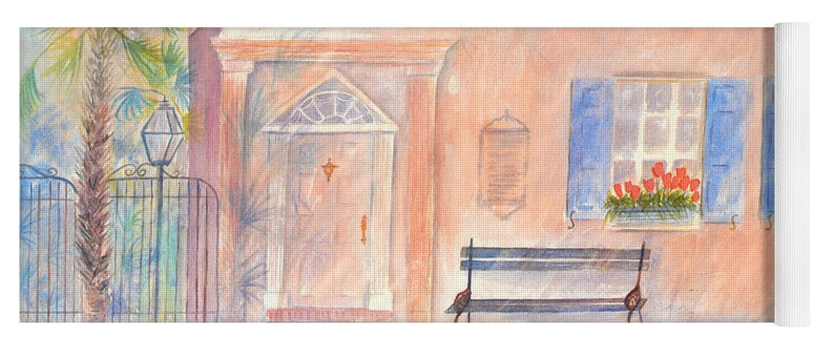 Charleston Yoga Mat featuring the painting Sunday Morning in Charleston by Ben Kiger