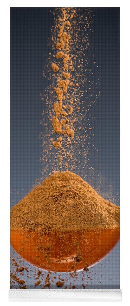 Cinnamon Yoga Mat featuring the photograph 1 Tablespoon Cinnamon by Steve Gadomski