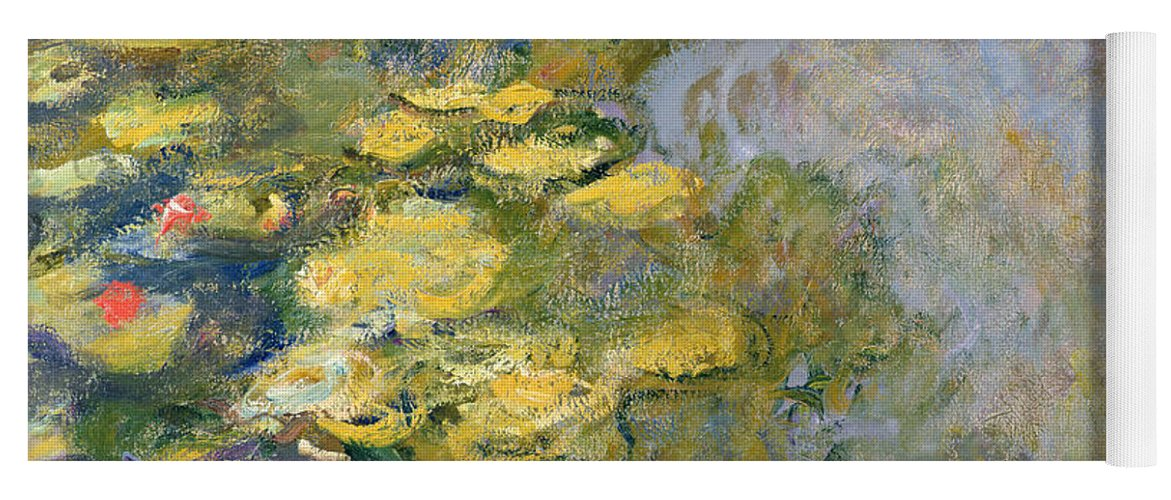 Impressionist Yoga Mat featuring the painting The Waterlily Pond by Claude Monet