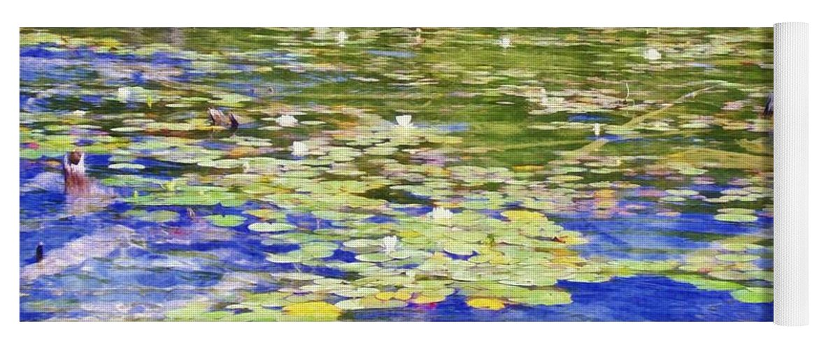 Lily Pad Yoga Mat featuring the photograph Torch River Water Lilies by Michelle Calkins