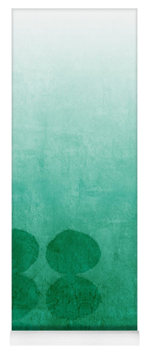 Abstract Yoga Mat featuring the painting Tranquility by Linda Woods