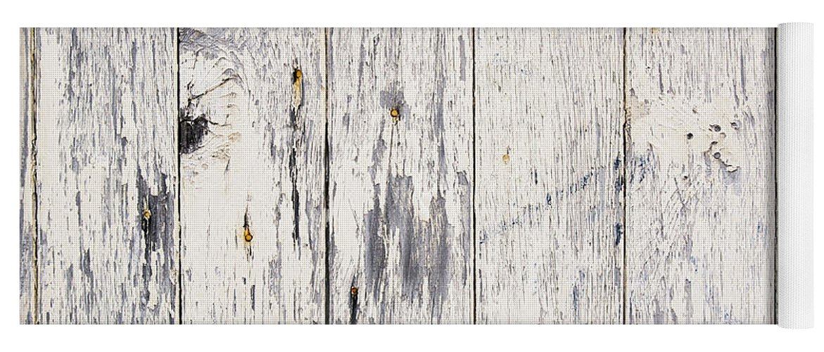 Abstract Yoga Mat featuring the photograph Weathered Paint On Wood by Tim Hester