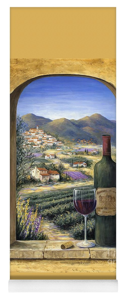 Wine Yoga Mat featuring the painting Wine And Lavender by Marilyn Dunlap