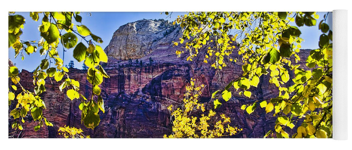 Zion National Park Utah Yoga Mat featuring the photograph Zion National Park by Jon Berghoff