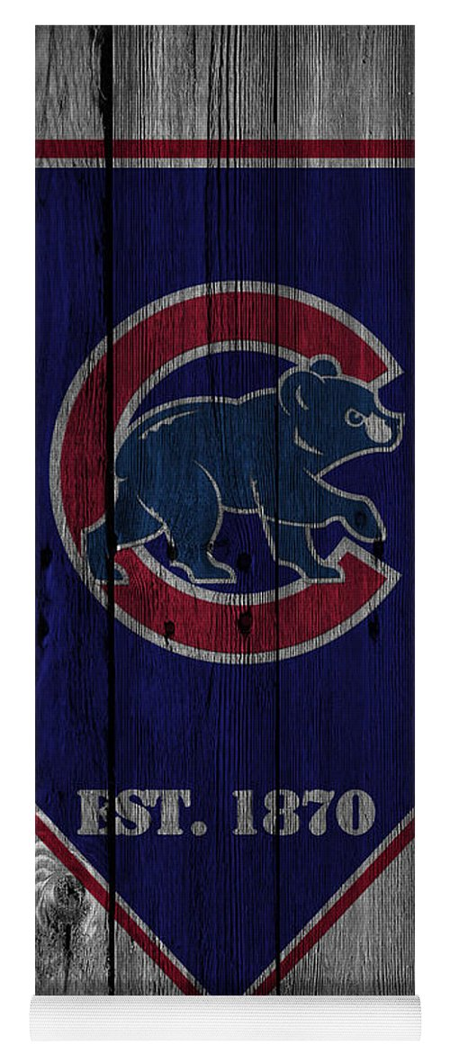 Cubs Yoga Mat featuring the photograph Chicago Cubs by Joe Hamilton