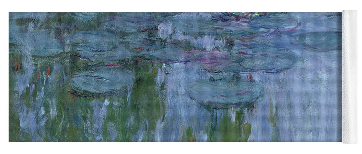 Nympheas Yoga Mat featuring the painting Waterlilies 10 by Claude Monet