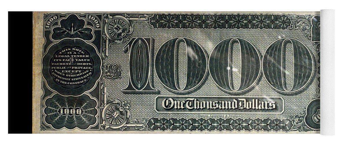 1000 Dollar Us Currency Bill Backside Yoga Mat