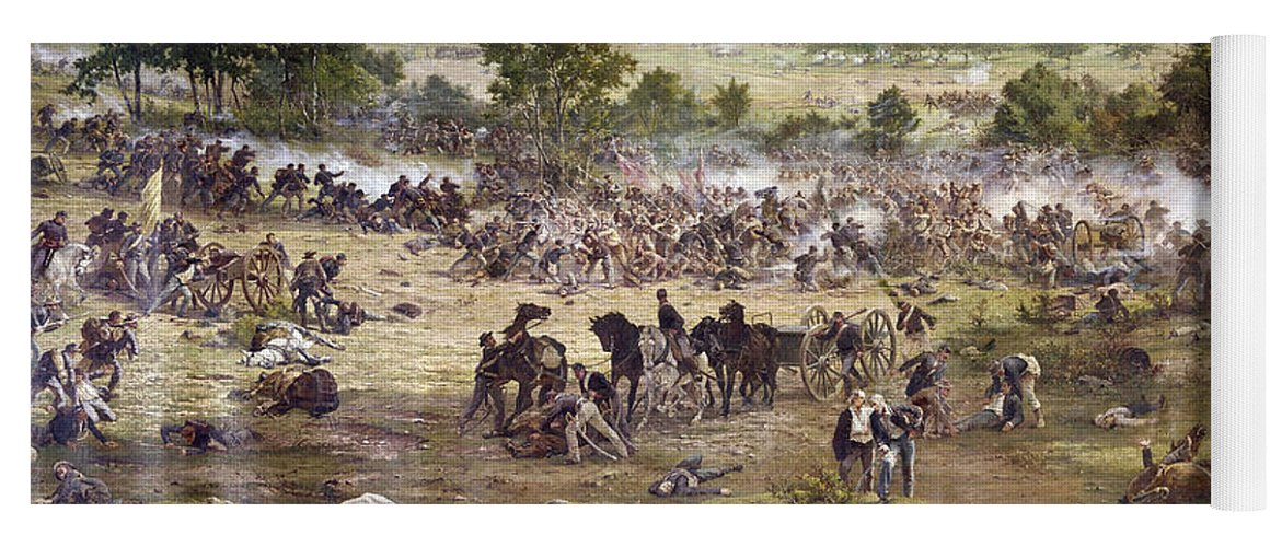 1863 Yoga Mat featuring the painting Civil War Gettysburg by Granger