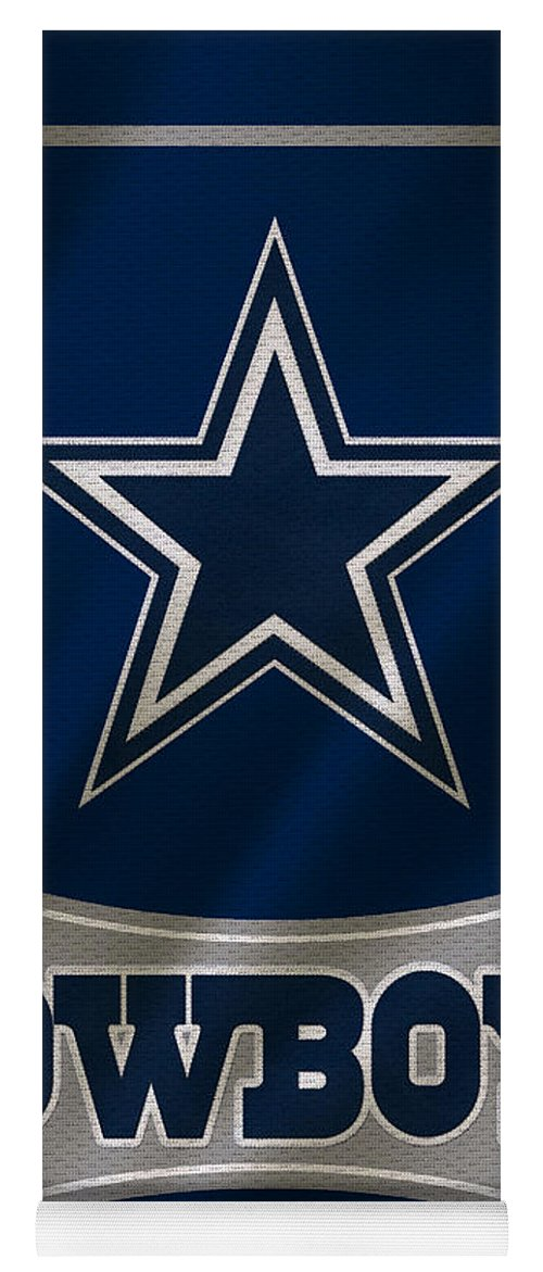 Cowboys Yoga Mat featuring the photograph Dallas Cowboys Uniform by Joe Hamilton