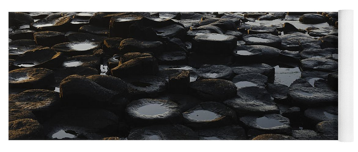Landscape Yoga Mat featuring the photograph The Giants Causeway by John Shaw