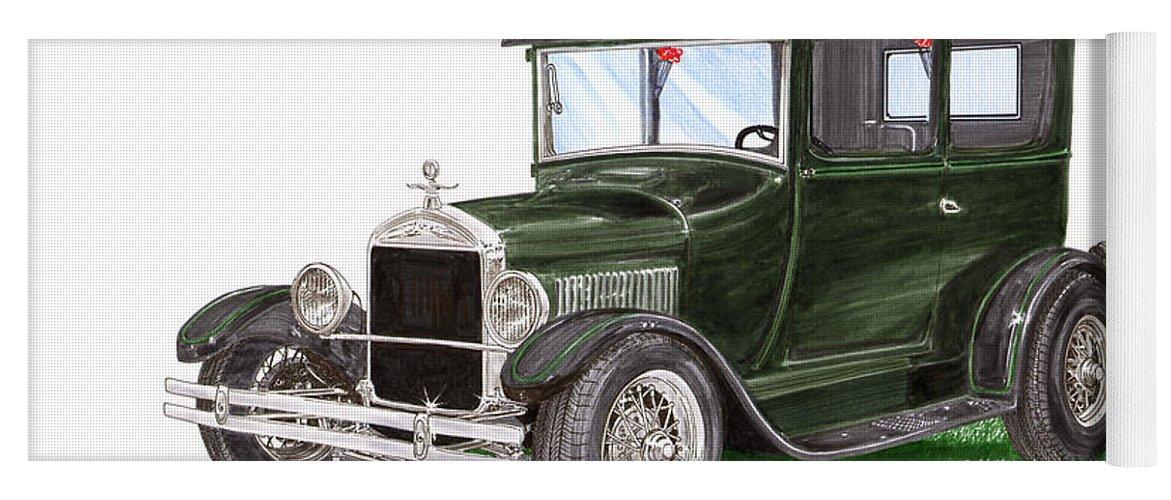 1926 Ford Tudor Sedan Street Rod Yoga Mat for Sale by Jack Pumphrey