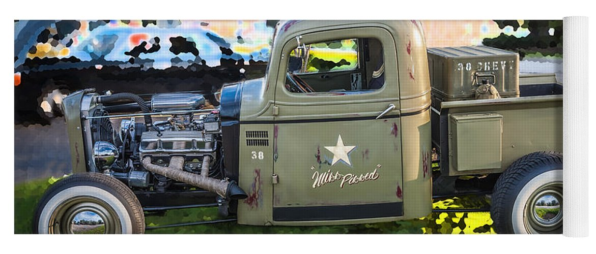 1938 Chevy Pick Up Truck Rat Rod Yoga Mat for Sale by Rich Franco