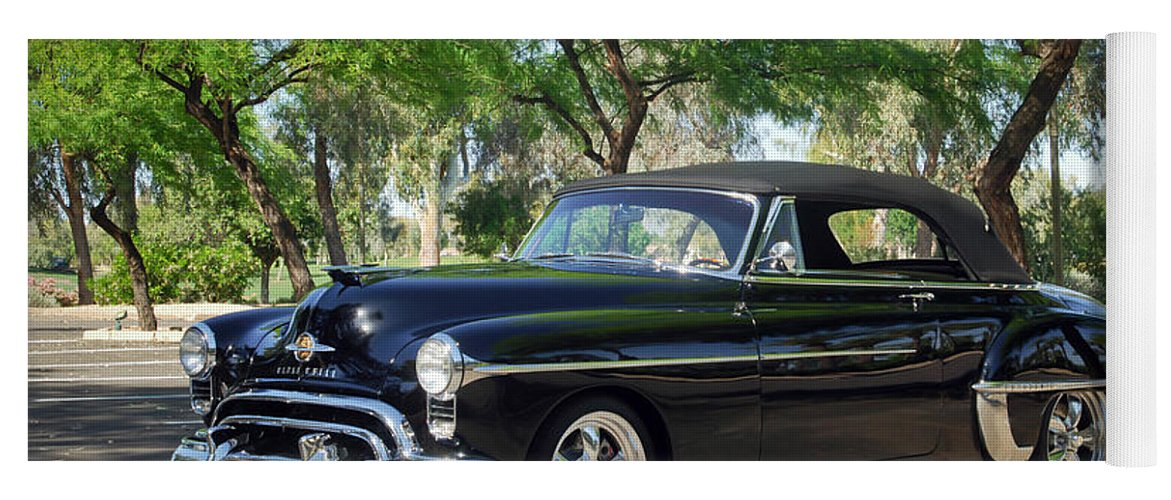 1950 Oldsmobile 88 Yoga Mat featuring the photograph 1950 Oldsmobile 88 -004c by Jill Reger