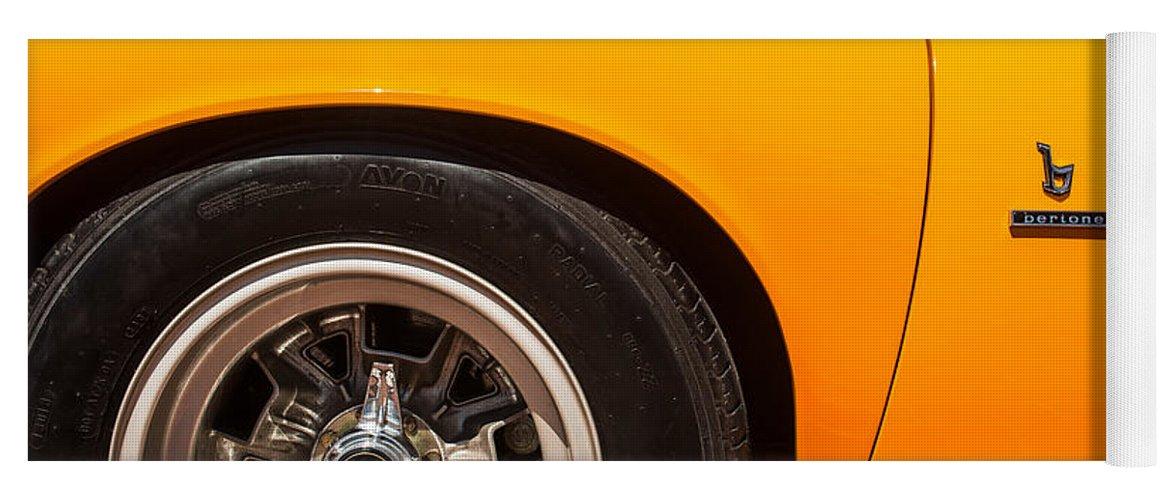 1971 Lamborghini Miura Sv Wheel Emblem 0390c Yoga Mat For Sale By