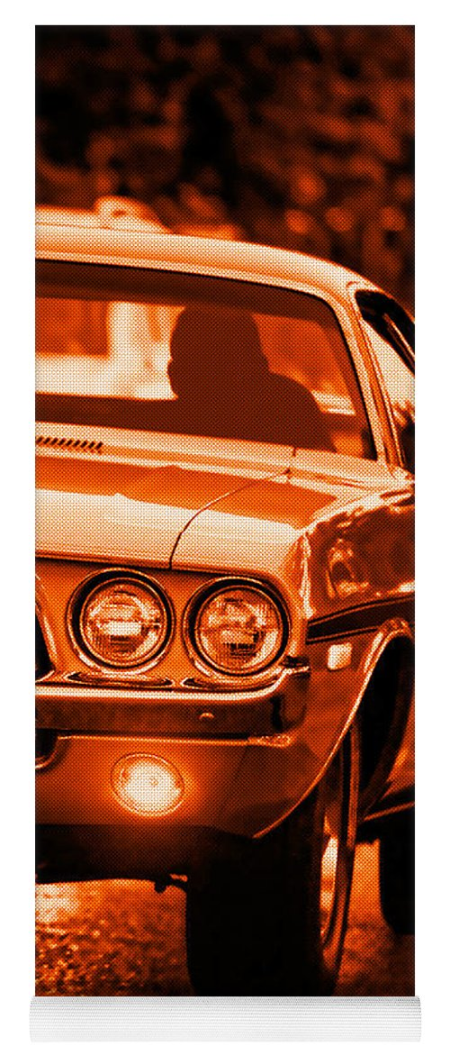 Yoga Mat featuring the photograph 1972 Dodge Challenger In Orange by Gordon Dean II