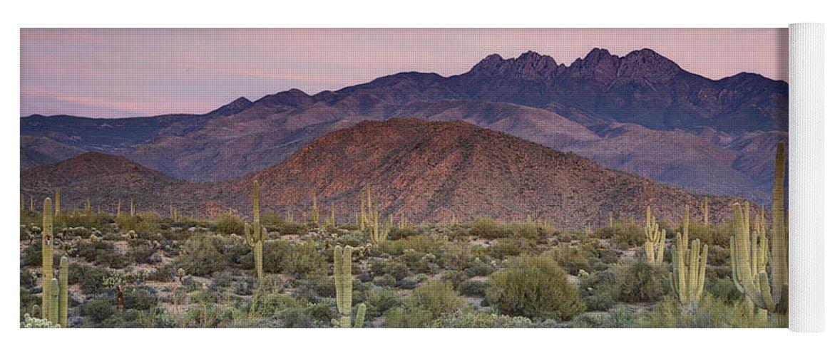 Sunset Yoga Mat featuring the photograph A Desert Sunset by Saija Lehtonen
