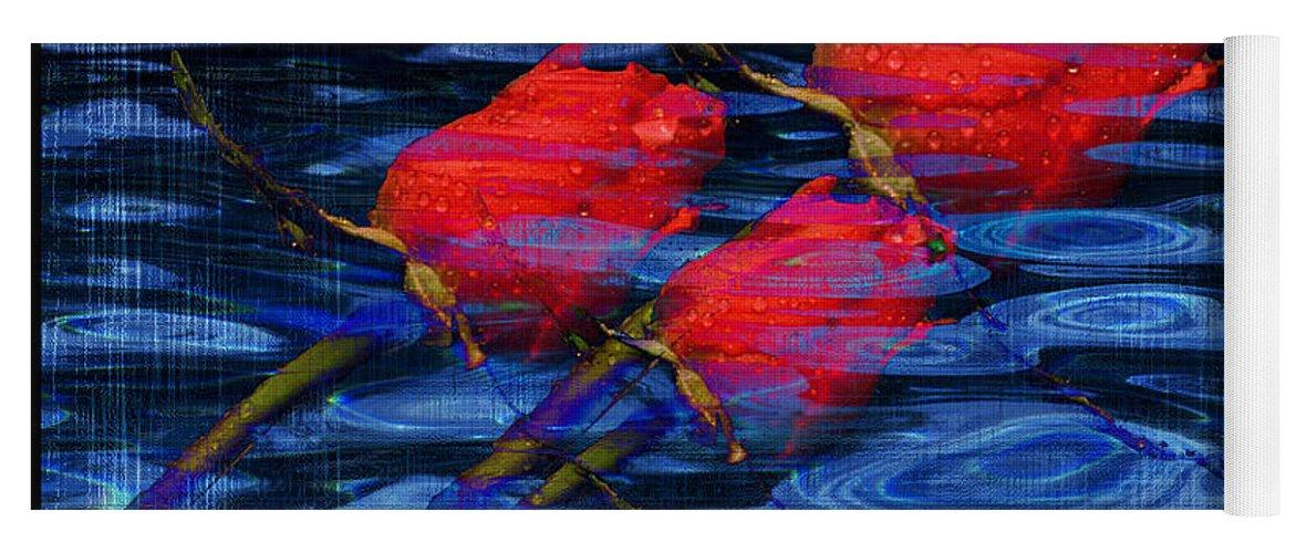 Rose Image Yoga Mat featuring the digital art Be Mine by Yael VanGruber