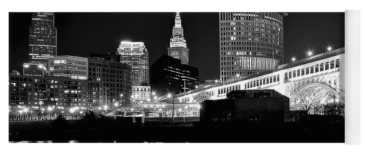 Cleveland Skyline Yoga Mat For Sale By Frozen In Time Fine Art