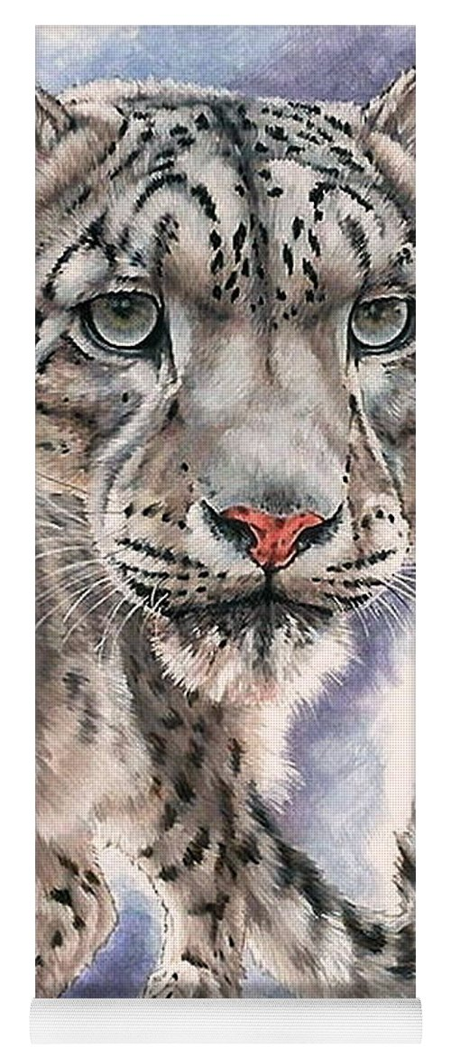 Big Cat Yoga Mat featuring the mixed media Dazzler by Barbara Keith