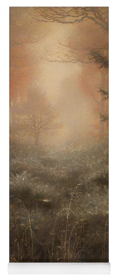 Painting Yoga Mat featuring the painting Dew Drenched Furze by Mountain Dreams