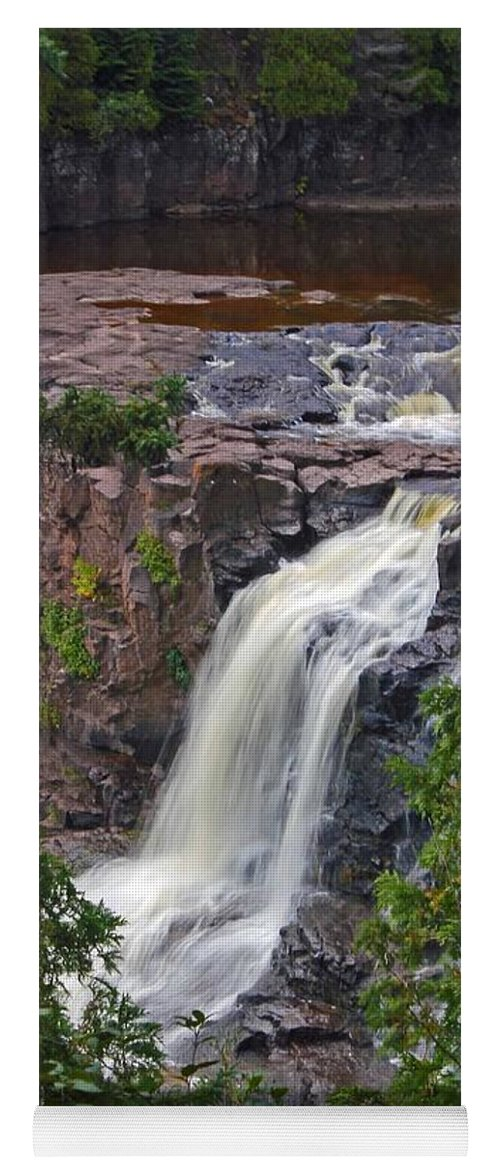 Gooseberry Falls Yoga Mat featuring the photograph Gooseberry Falls by Stephanie Hanson