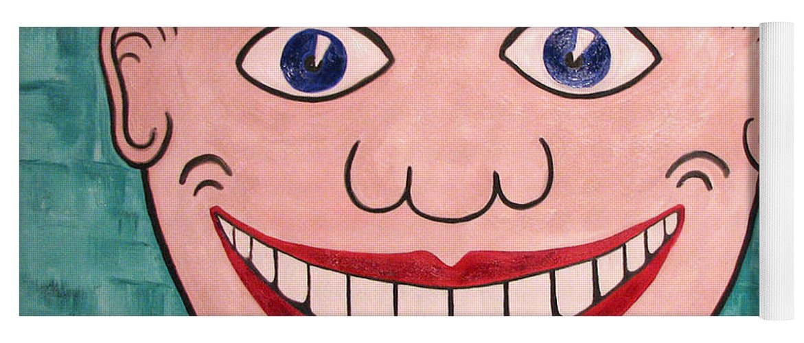 Tillie Yoga Mat featuring the painting Happy Tillie by Patricia Arroyo