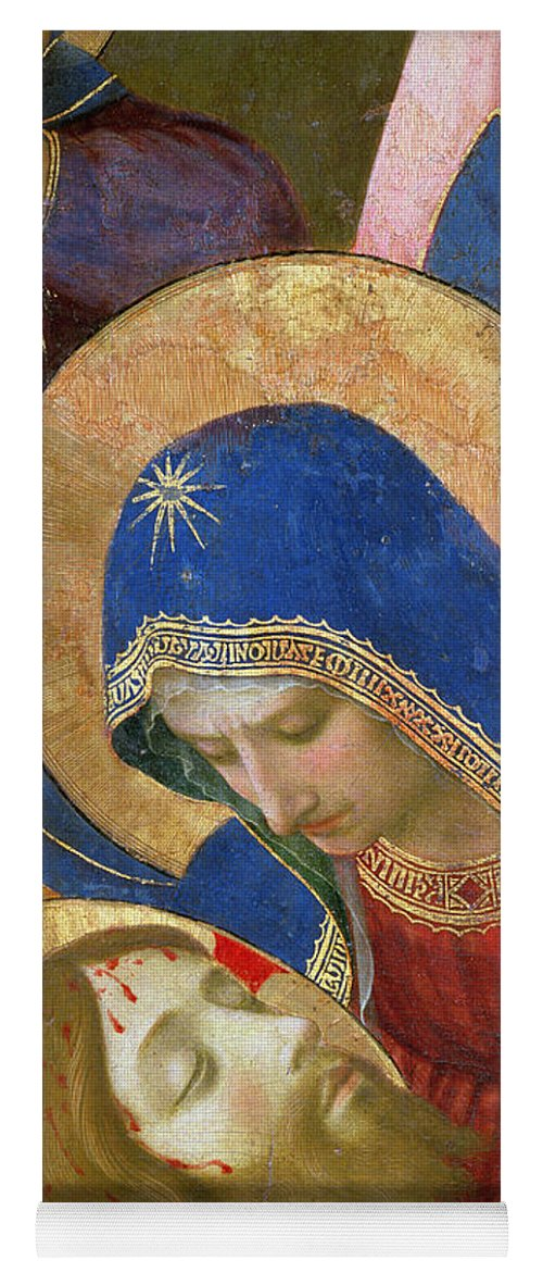 Son Of God Yoga Mat featuring the painting Lamentation Over The Dead Christ by Fra Angelico