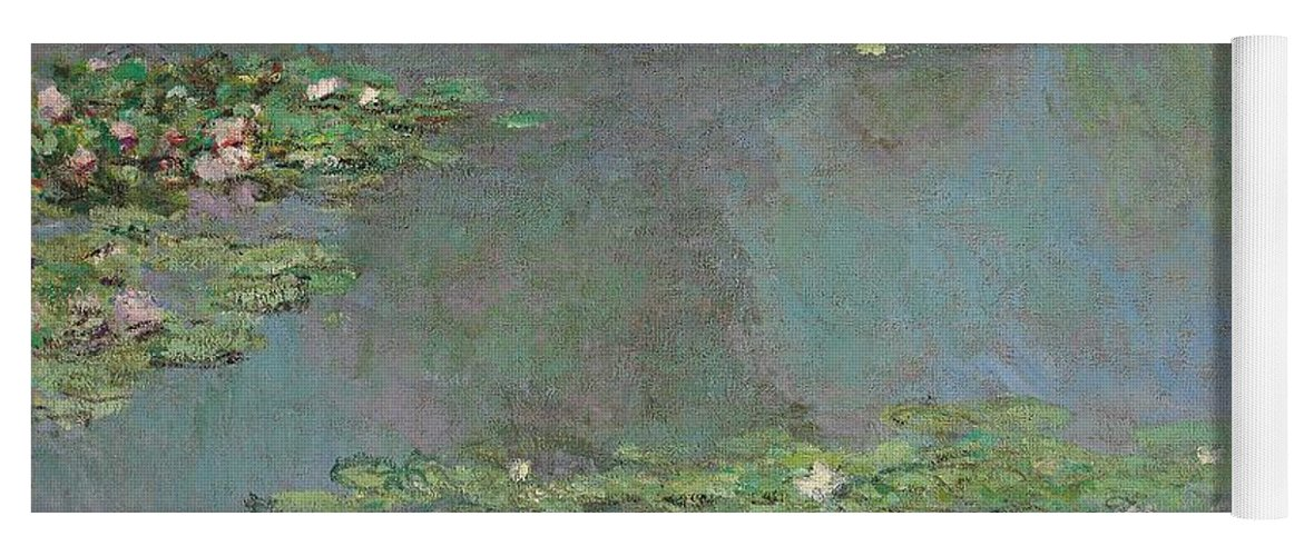 Lily Pond; Impressionist; Giverny; Blue; Flowers; Green; Lily Pad; Lily Pads; Pond; Pink; Water Lillies Yoga Mat featuring the painting Nympheas by Claude Monet