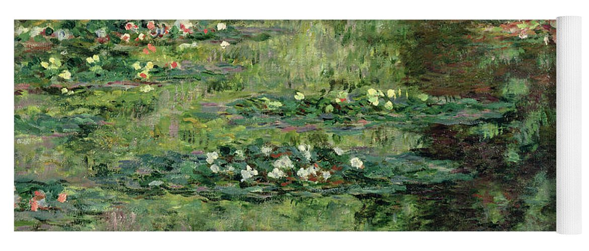 Etang Aux Nympheas Yoga Mat featuring the painting The Waterlily Pond by Claude Monet