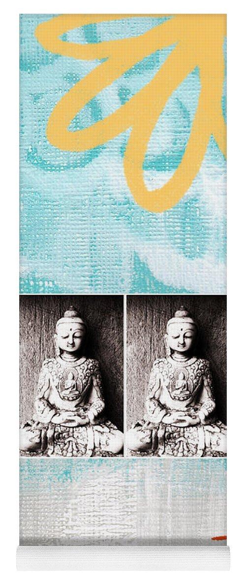 Buddha Yoga Mat featuring the painting Buddha by Linda Woods