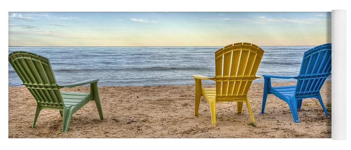 Chairs Yoga Mat featuring the photograph 3 Chairs by Scott Norris