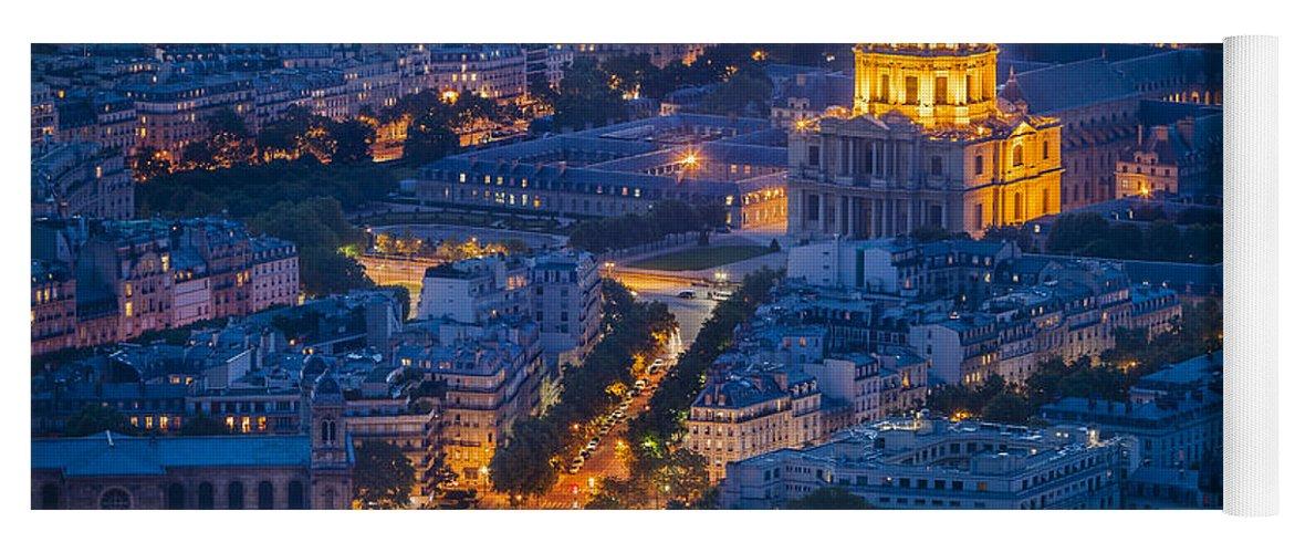 Buildings Yoga Mat featuring the photograph Paris Overhead by Brian Jannsen
