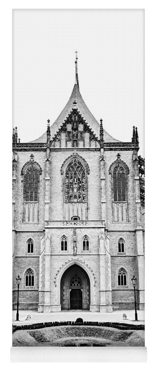 Kutna Hora Yoga Mat featuring the photograph Saint Barbara Church by Michal Boubin