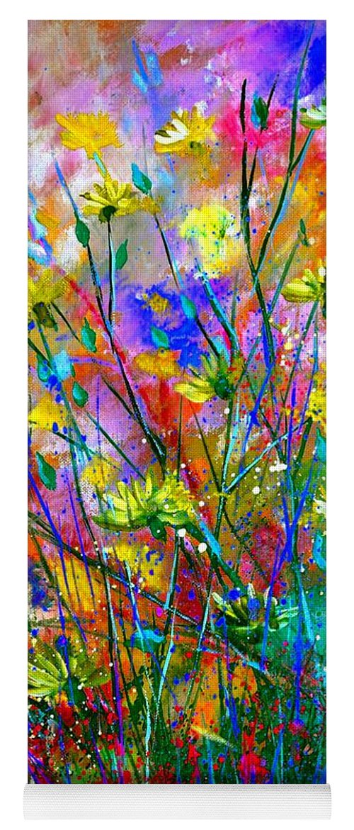 Flowers Yoga Mat featuring the painting Wild Flowers by Pol Ledent