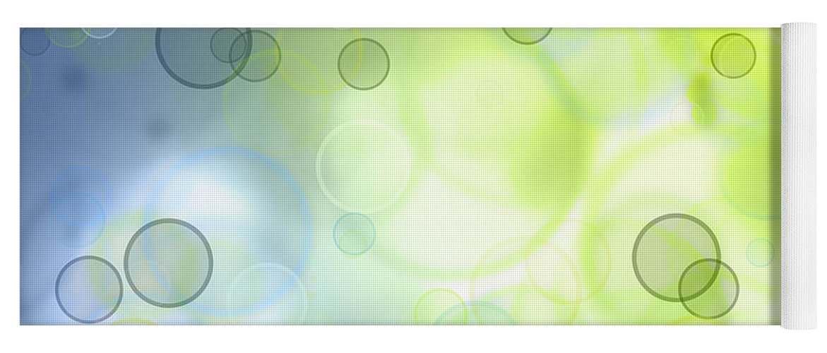 Abstract Yoga Mat featuring the photograph Circles Of Hope by Les Cunliffe