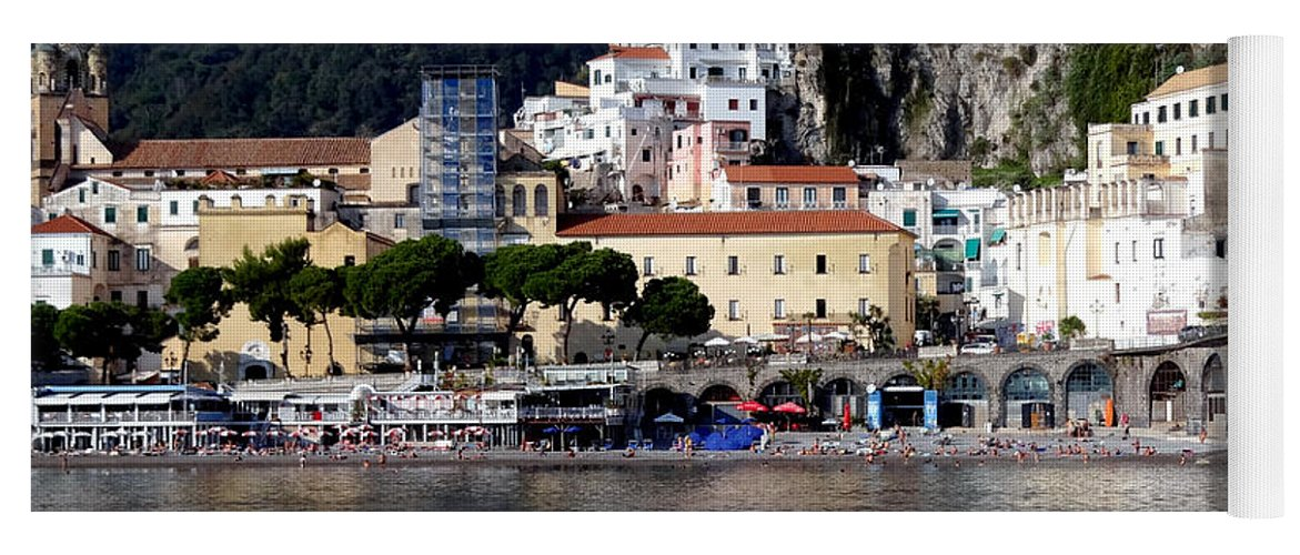 Amalfi Coast Yoga Mat featuring the photograph Views From The Amalfi Coast In Italy by Richard Rosenshein