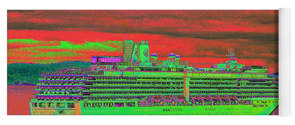 Holland America Yoga Mat featuring the photograph A More Colorful HAL by Richard Henne