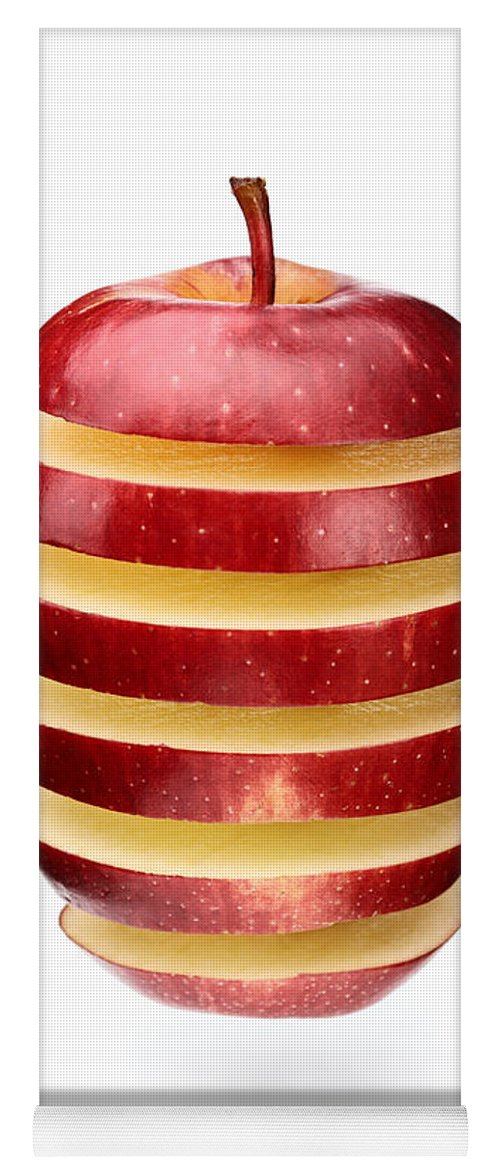 Apple Yoga Mat featuring the photograph Abstract Apple Slices by Johan Swanepoel