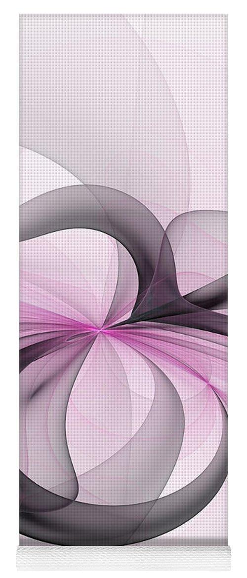 Digital Art Yoga Mat featuring the digital art Abstract Art Fractal With Pink by Gabiw Art