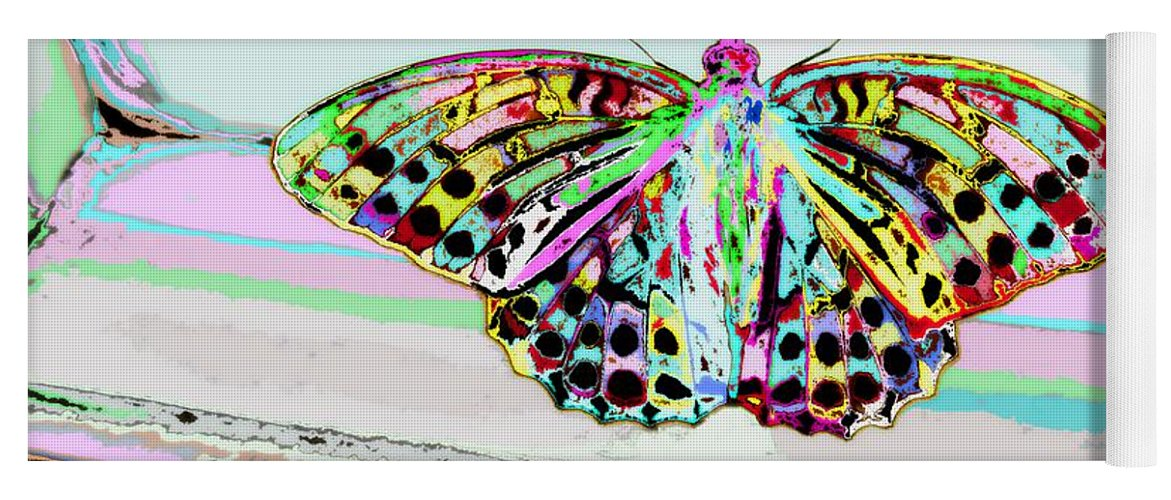 Butterfly Yoga Mat featuring the photograph Abstract Butterfly by Marianna Mills