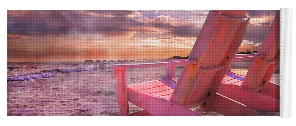 Beach Yoga Mat featuring the photograph Adirondack Duo by Betsy Knapp