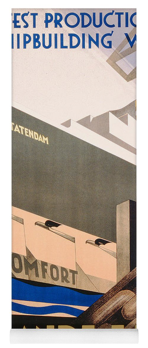 Art Deco Yoga Mat featuring the painting Advertisement For The Holland America Line by Hoff