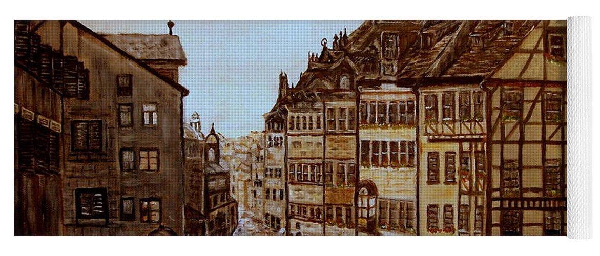 Albrecht Durer Yoga Mat featuring the painting Albrecht Durers Home by Kenneth LePoidevin