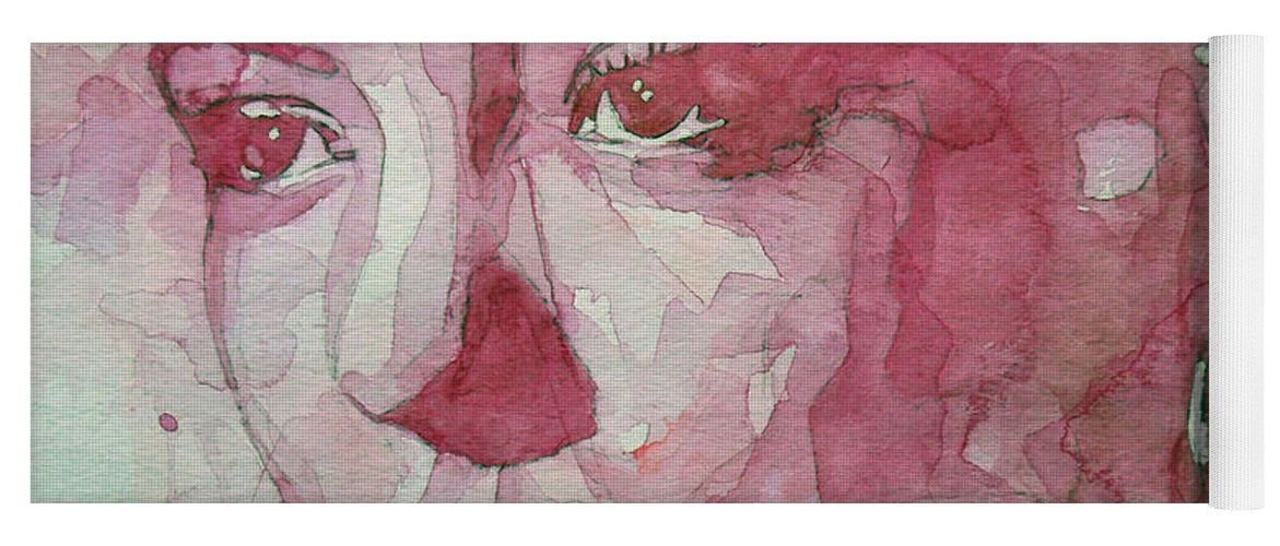 Billie Holiday Yoga Mat featuring the painting All Of Me by Paul Lovering