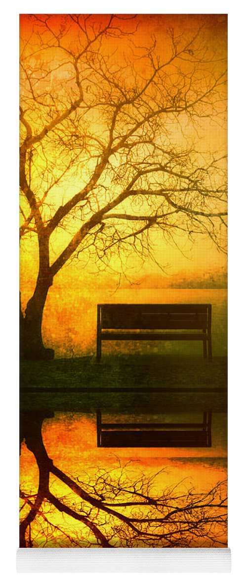 Bench Yoga Mat featuring the photograph And I Will Wait For You Until The Sun Goes Down by Tara Turner