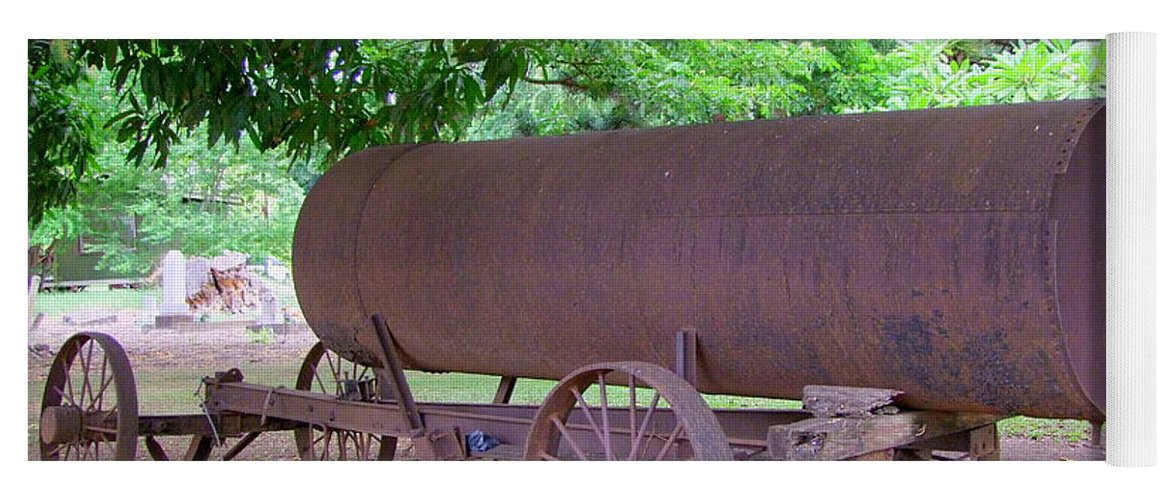 Water Tank Yoga Mat featuring the photograph Antique Water Tank - No 2 by Mary Deal