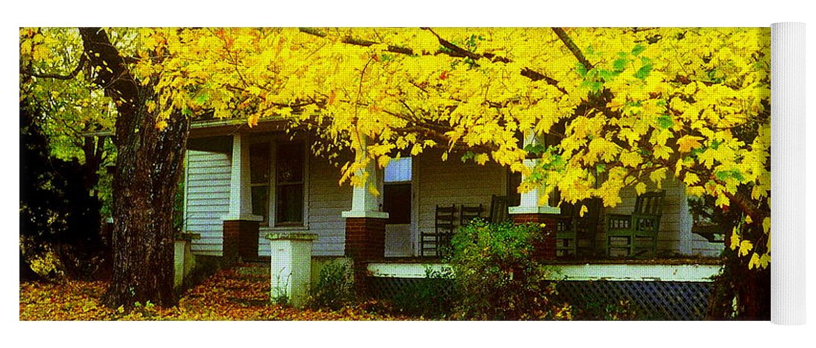 House Yoga Mat featuring the photograph Autumn Homestead by Rodney Lee Williams