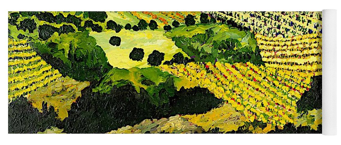 Landscape Yoga Mat featuring the painting Autumn Remembered by Allan P Friedlander