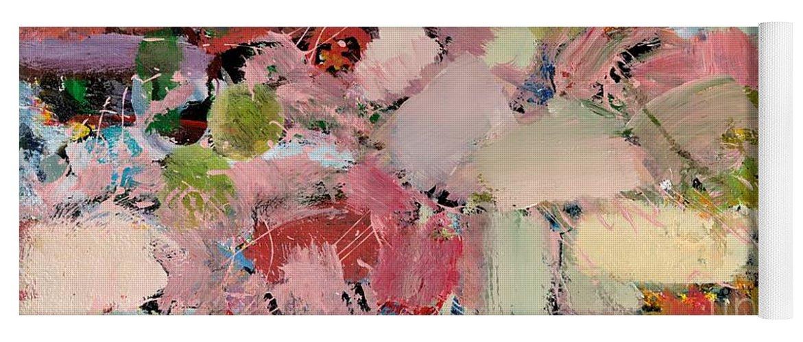 Landscape Yoga Mat featuring the painting Azaleas by Allan P Friedlander