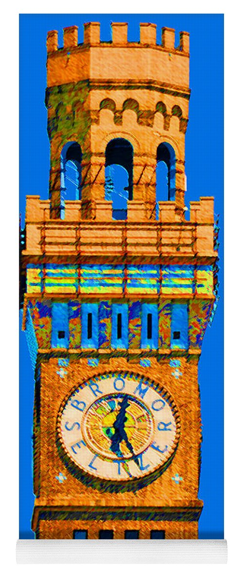 Baltimore Yoga Mat featuring the photograph Baltimore Clock Tower by Jost Houk